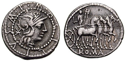 Roman coin - Acilia - Silver Denarius